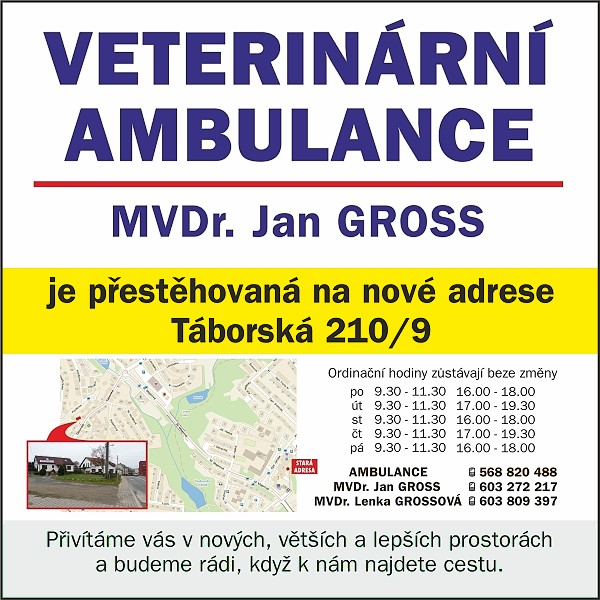 Ambulance MVDr. Jan Gross - st�hov�n�